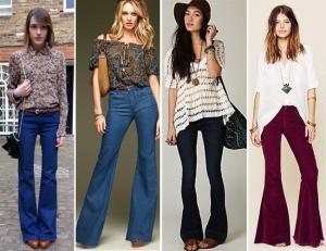 Looks para diferentes ocasiões usando calça flare.